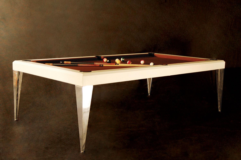 par tavolo da biliardo trasformabile