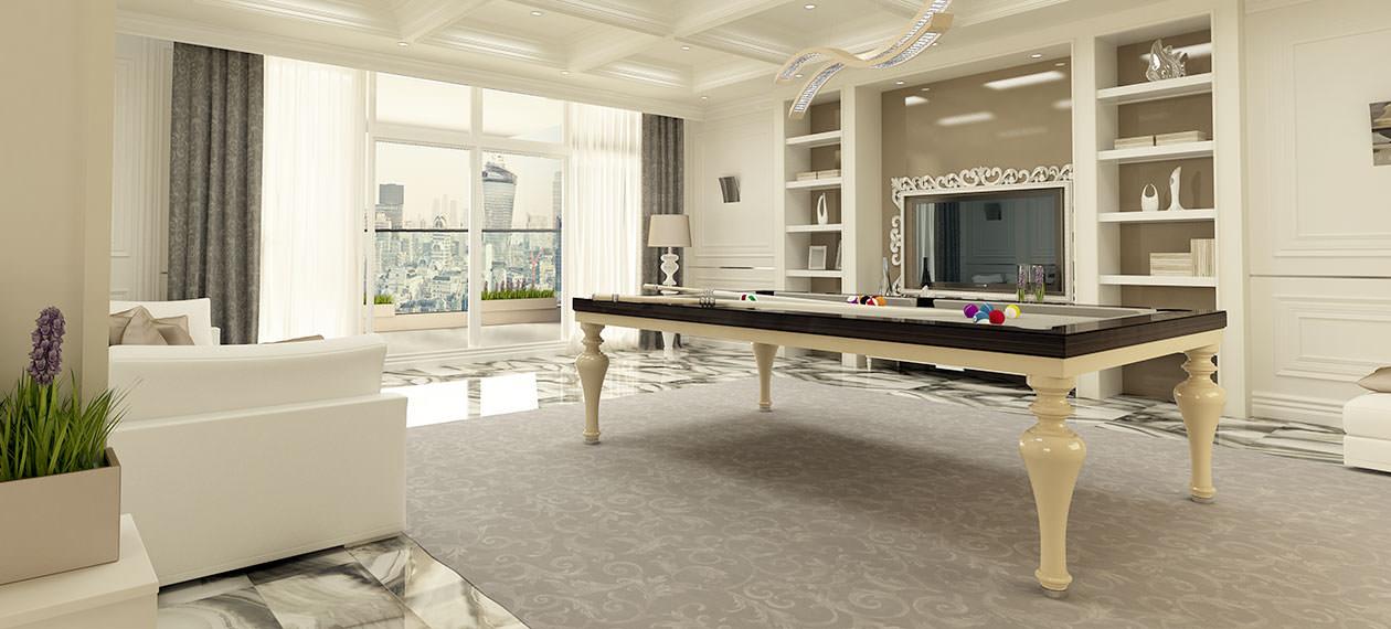 tavolo da pranzo-trasformabile in biliardo vienna