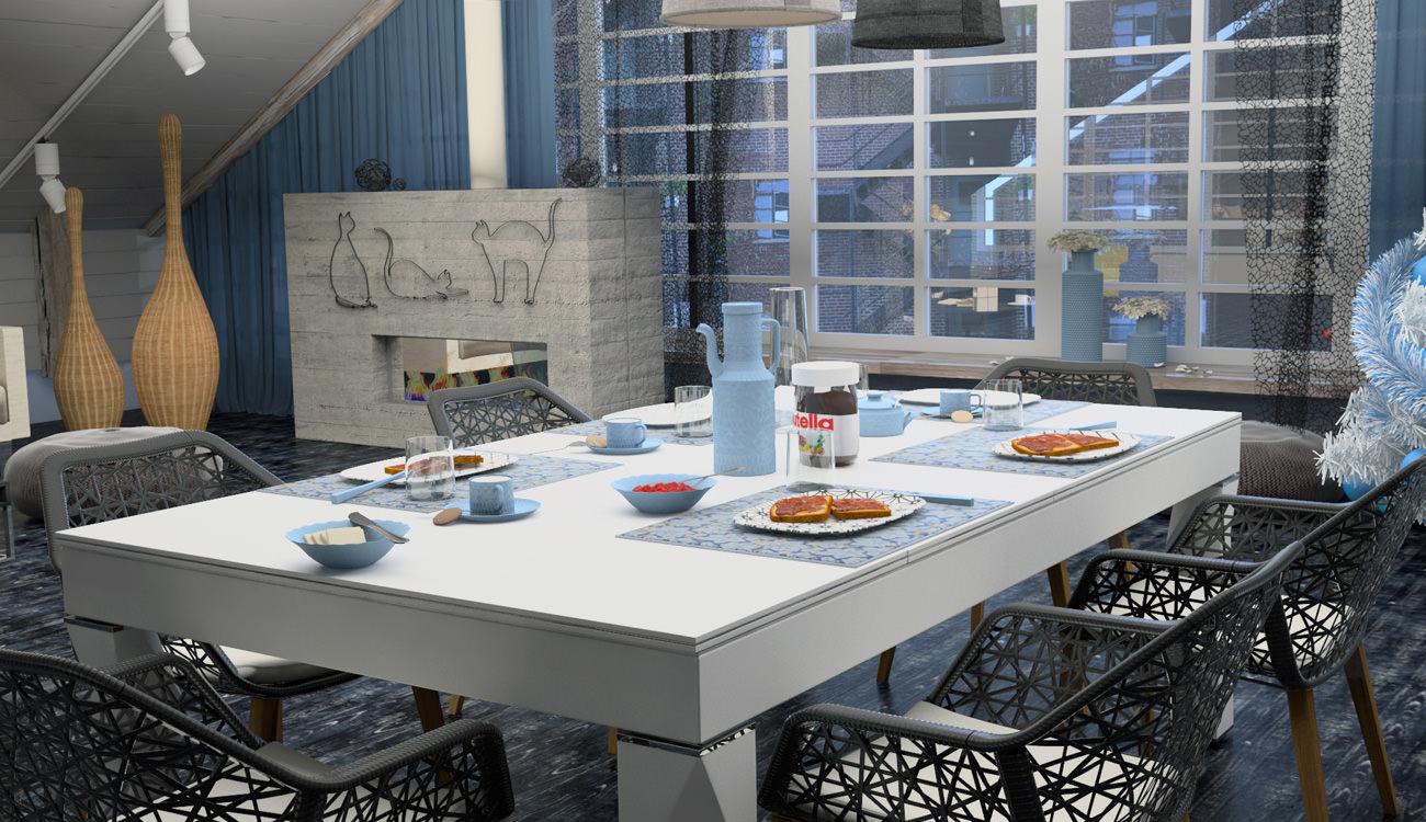 biliardo mbm trasformabile in tavolo shanghai